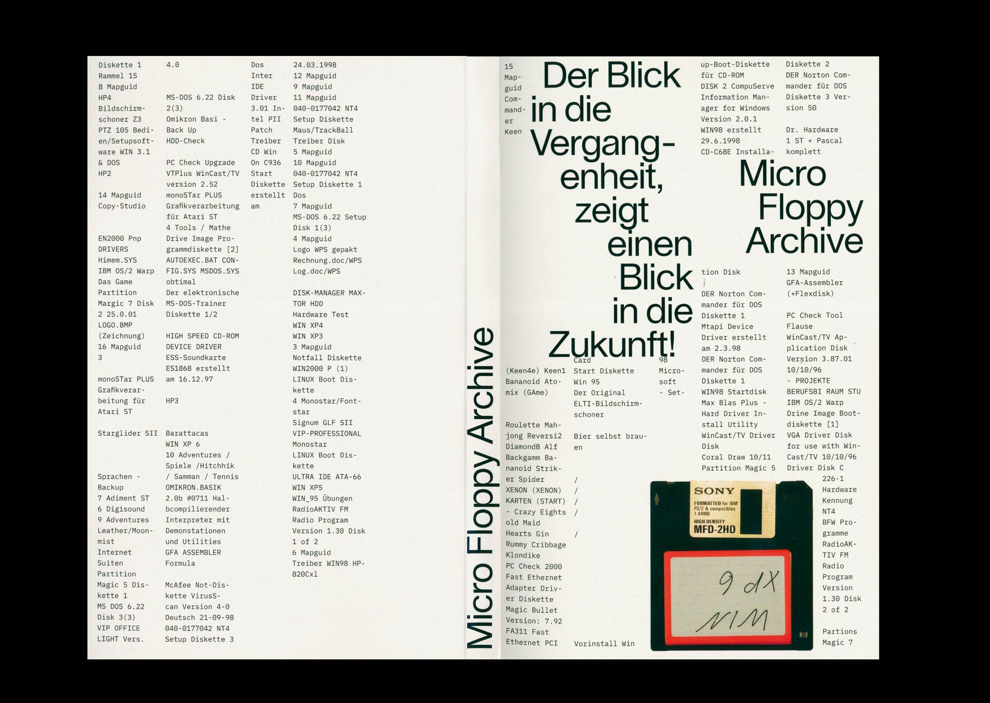 micro floppy archive — david broenner